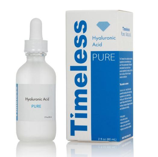 Timeless Hyaluronic Acid Pure 30 ml. เซรั่มไฮยารูลอนยอดฮิตในอเมริกา ไฮยารูรอนิคเอซิค ที่ช่วยให้ผิวอุ้มน้ำ เก็บน้ำได้ดีขึ้น ทำให้ผิวชุ่มชื้น ดูอิ่มเต็ม ลดริ้วรอย ร่องลึกต่างๆ ใช้ได้ทั้งเป็นเซรั่มและใช้ผสมกับครีมบำรุงผิวหน้าที่ใช้ปกติ