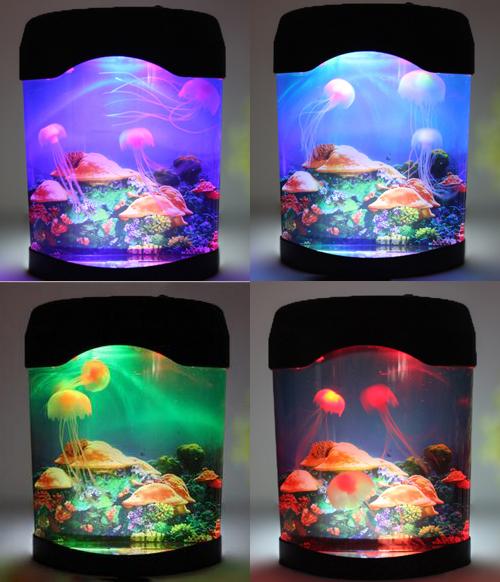 โคมไฟตู้แมงกะพรุนเรืองแสง Jellyfish Mood Lamp