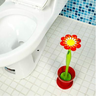 แปรงขัดชักโครกดอกไม้