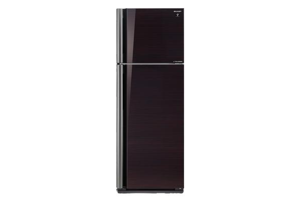 Sharp ตู้เย็น 2 ประตูความจุ 14.4 คิว ประตูกระจก J-TECH INVETER รุ่น SJ-X44GP-BK สีดำ
