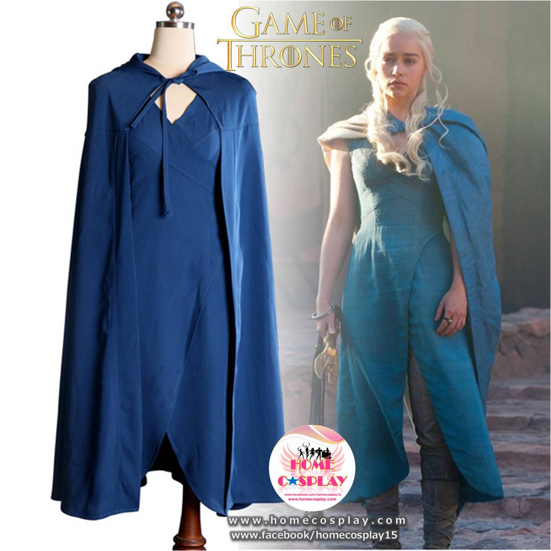 Super Premium Set: #1 ชุดแดเนริส ทาร์แกเรียน Daenerys Targaryen - Game of Thrones
