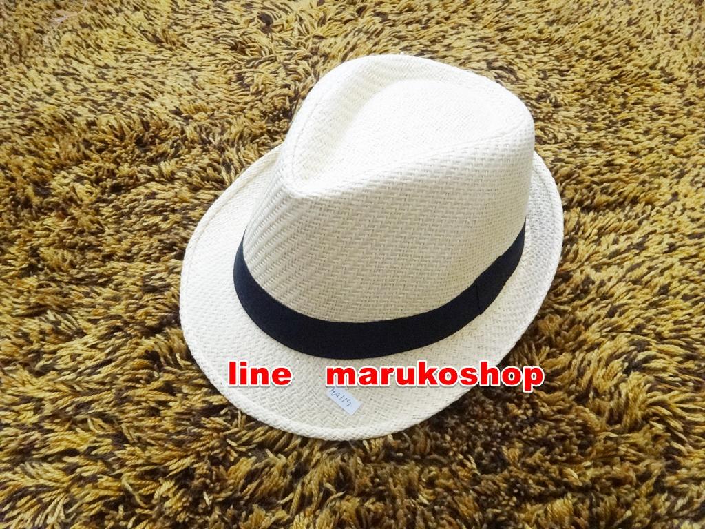 หมวกปานามาปีกสั้น หมวกสาน หมวกปานามา สีน้ำตาลอ่อน คาดดำ พร้อมส่งค่ะ ปีกกว้าง 3.5 ซม รอบศรีษะ 57 -58 ซม.