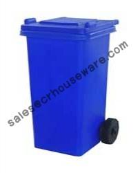 ถังขยะมีล้อเนื้อโพลีเอทธิลีน-240 ลิตร (ฝาเรียบ)001-TC240R Trash wheelie bins poly ethylene smooth cover. 240 liter. 001-TC240R