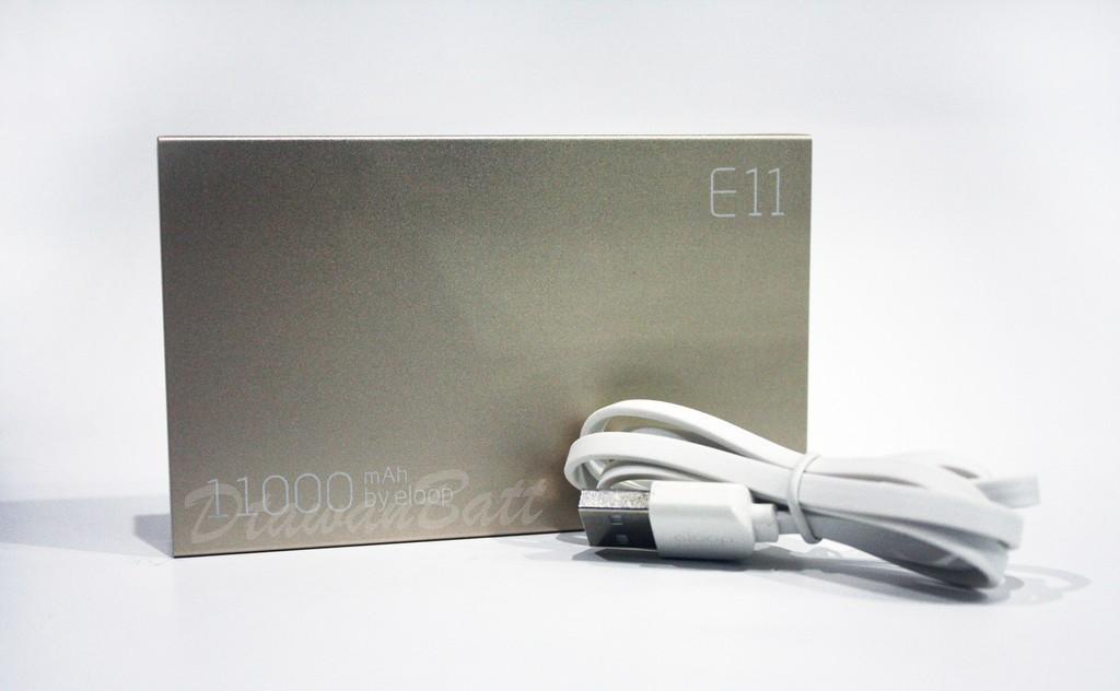 พาวเวอร์แบงค์ Eloop E11,แบตสำรอง Eloop E11,powerbank 11000mah (สีทอง) ของแท้ 100%