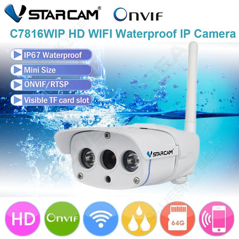 VStarcam กล้องวงจรปิดไร้สาย WIFI 720P 1.0 MP Waterproof กันน้ำ 100% ติดตั้งง่ายภายใน 3 นาทีดูภาพอุปกรณ์มือถือได้เลย