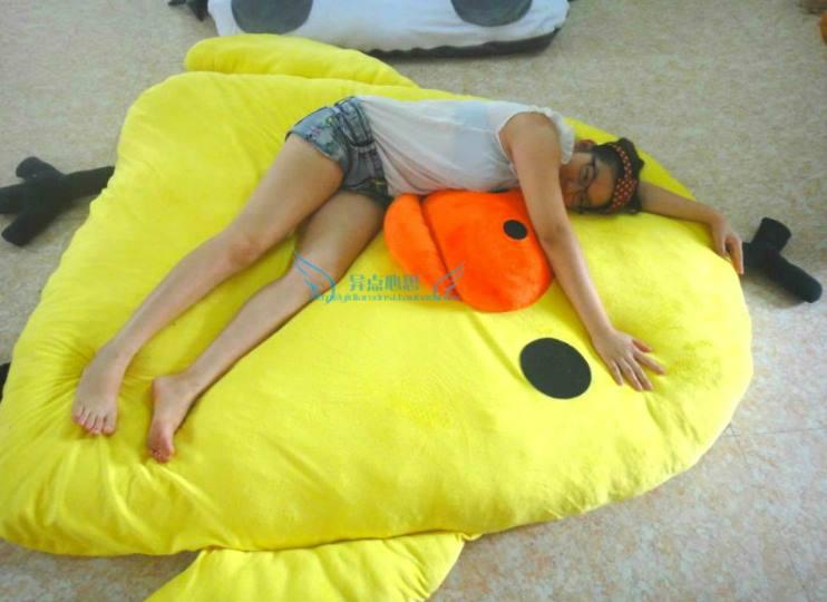 ที่นอนไก่สีเหลือง
