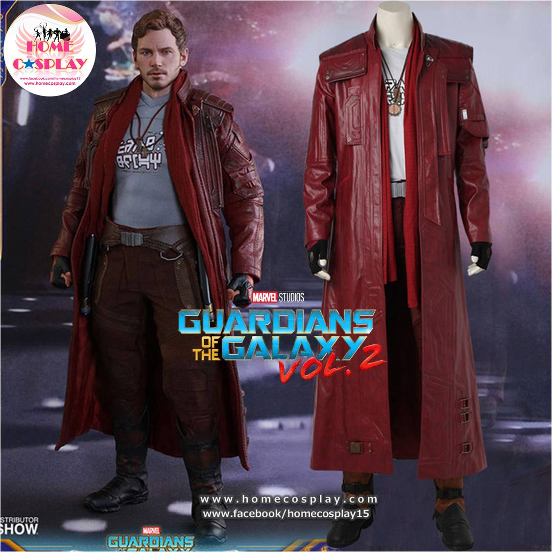 Super Premium Set: ชุดสตาร์-ลอร์ด Star-Lord - Guardians Of The Galaxy 2