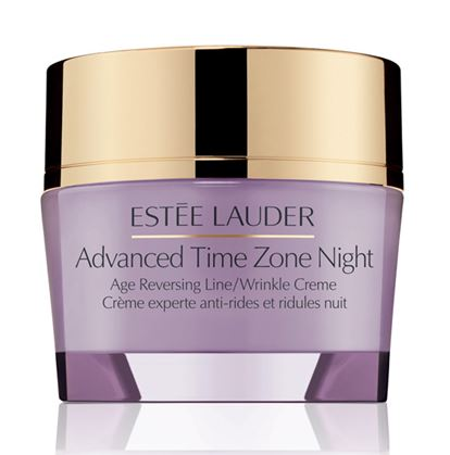 Estee Lauder Advanced Time Zone Night Age Reversing Line/Wrinkle Creme ขนาดทดลอง 15ml. ครีมบำรุงยามค่ำคืน ฟื้นฟูผิวยามค่ำคืน สำหรับทุกสภาพผิว 30+ ช่วยย้อนเวลาให้ผิวได้อีกครั้ง ช่วยลดเลือนริ้วรอยแห่งวัย และป้องการริ้วรอยใหม่ที่จะเกิดขึ้น