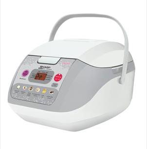 Sharp หม้อหุงข้าว ดิจิตอล 1 ลิตร รุ่น KS-COM10 สีครีม