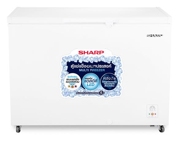Sharp ตู้แช่แข็งแบบฝาทึบขนาด 10.9 คิวรุ่น SJ-C315TH - White สีขาว