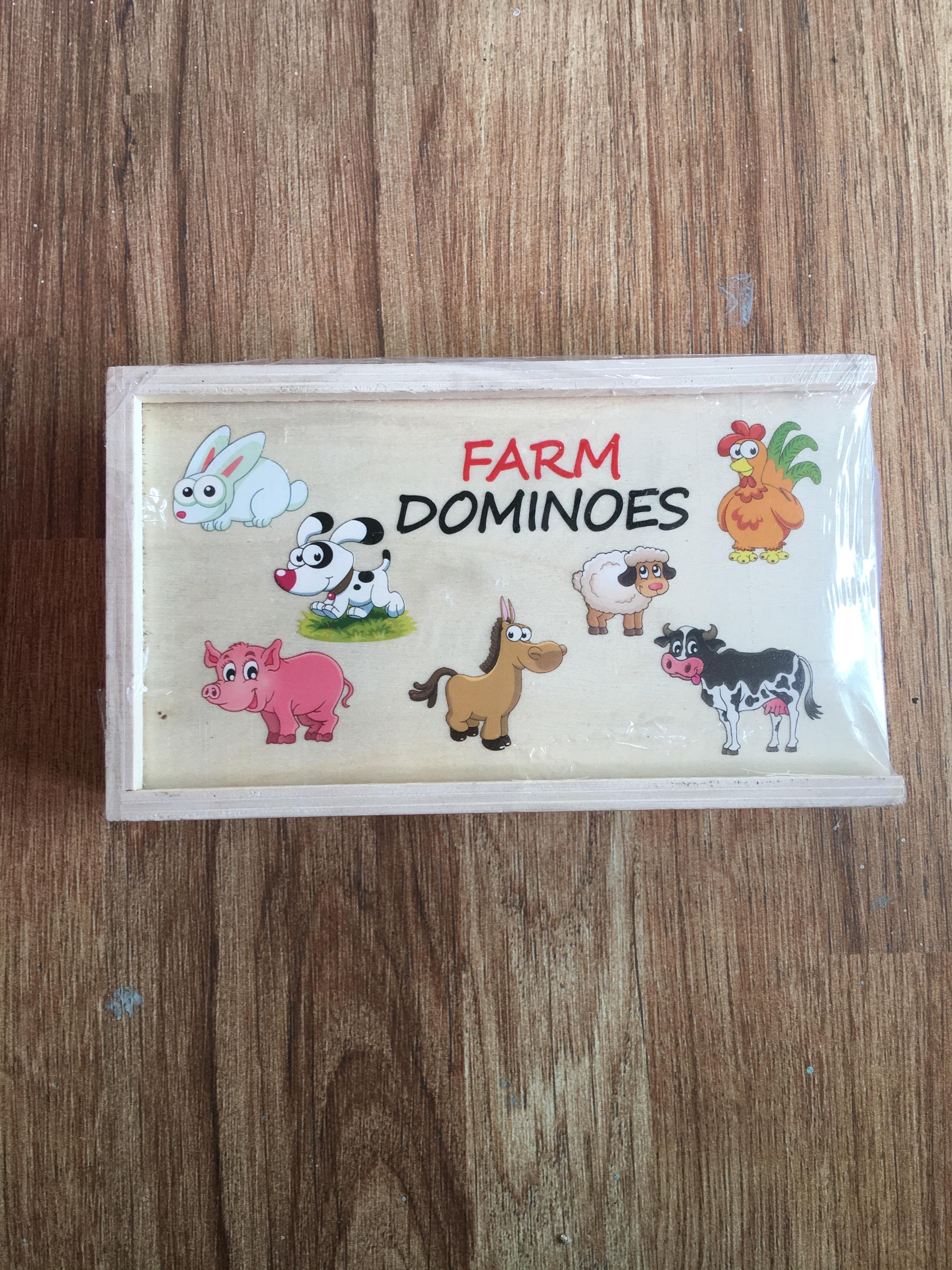 โดมิโน่ไม้ สัตว์ในฟาร์ม