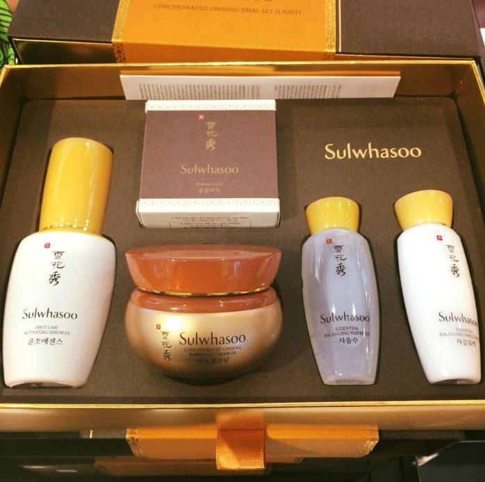 Sulwhasoo 50 Year Ginseng Reserach Concentrated Ginseng Trial Set 5 Items ชุดครีมโสมที่รวมผลิตภัณฑ์ขายดีในเซท เป็นเซทฉลองครบรอบ 50ปี วิจัยโสม ที่รวมสินค้าขายดีไว้ครบ
