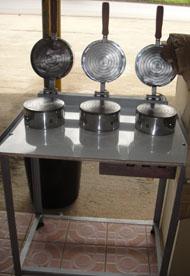 พิมพ์ทองม้วนไฟฟ้า 3 หัว 016-SM-O3 Tong Muan Mold Electric 3 head. 016-SM-O3 ขนมไทย