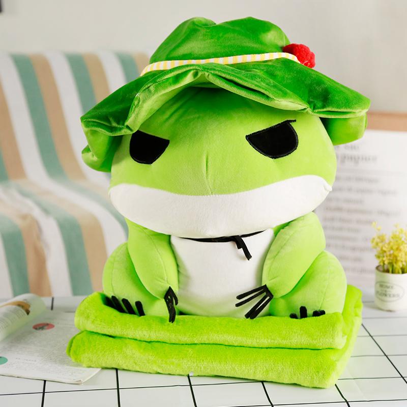 หมอนผ้าห่มกบ Tabikaeru Travel frog