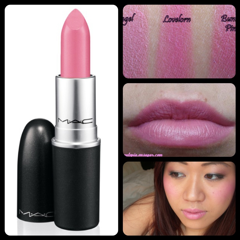 ลิปสติก MAC Lustre Lipstick # Lovelorn ลิปสติกประกายแวววาว มอบสีเด่นชัดแนบแน่นบนริมฝีปากในขณะเดียวกันก็มอบความชุ่มชื้น เผยริมฝีปากเนียนนุ่ม เย้ายวน ประกายเซ็กซี่ เนิ่นนานตลอดทั้งวัน