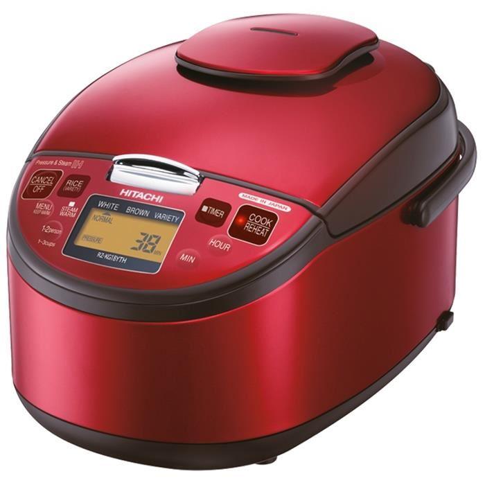 HITACHI หม้อหุงข้าว ระบบแม่เหล็กไฟฟ้า 1.8 ลิตร รุ่น RZ-KG18YTH สีแดง