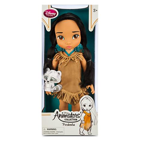 Animators' Collection Pocahontas Doll ตุ๊กตาเจ้าหญิงดิสนีย์ ตุ๊กตาแอนิเมเตอร์ โพคาฮอนทัส จากการ์ตูนเรื่องโพคาฮอนทัส Pocahontas (รุ่น 3 มีตุ๊กตาที่ข้อมือ) ขนาดความสูง 16 นิ้ว สินค้านำเข้า Disney USA แท้ 100% ค่ะ