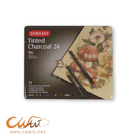 สีไม้Derwent รุ่นTinted charcoal x24สี