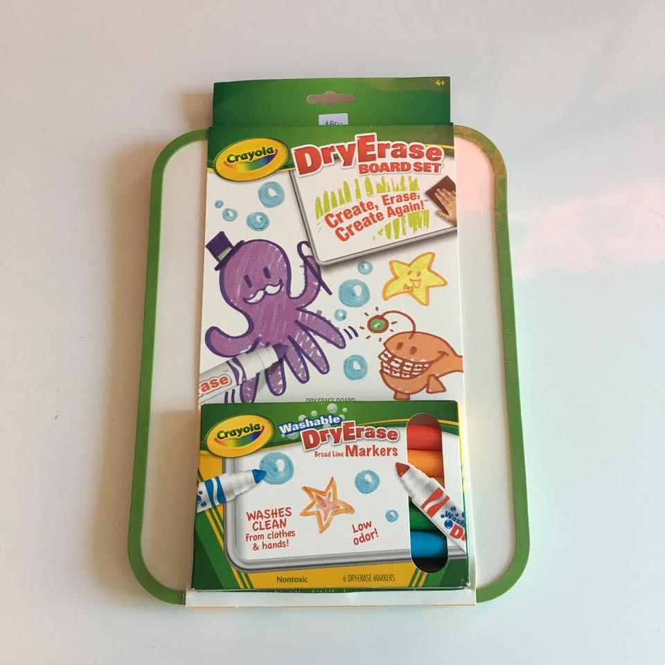 Crayola Dry-Erase Board Set กระดานไวท์บอร์ด พร้อมปากกาไวท์บอร์ด 6 สี ปลอดสารพิษ ล้างออกได้