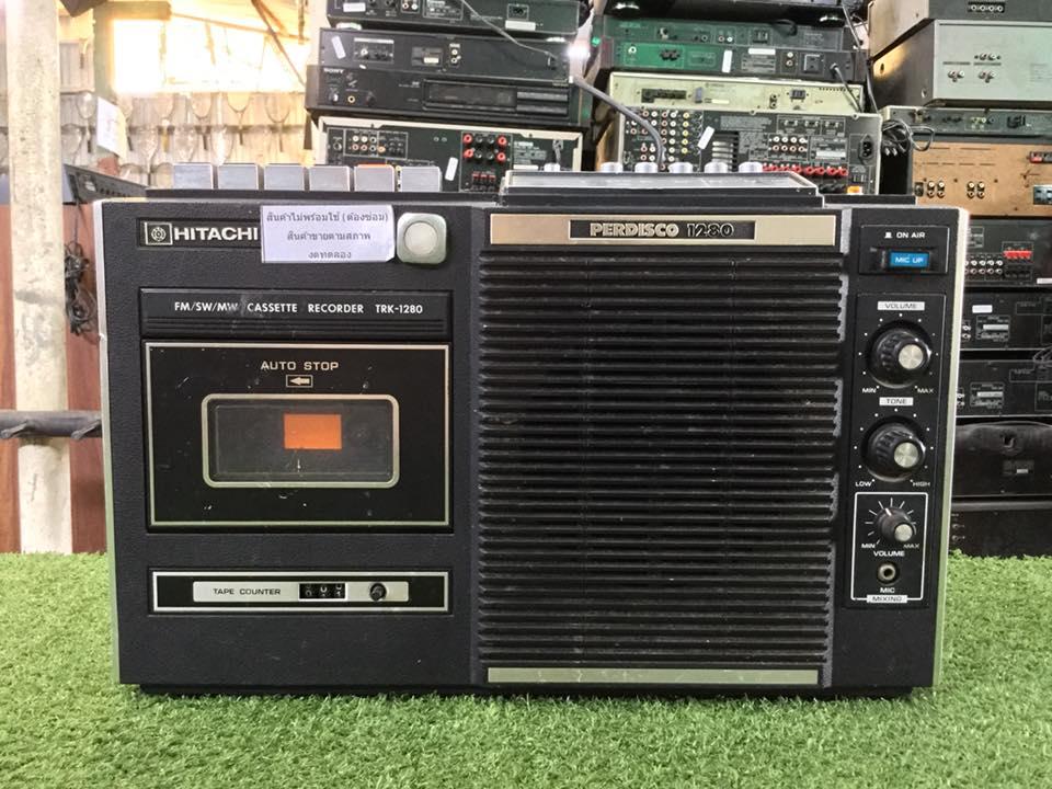 วิทยุ FM AM HITACHI TRK-1280 สินค้าไม่พร้อมใช้งาน (ต้องซ่อม)