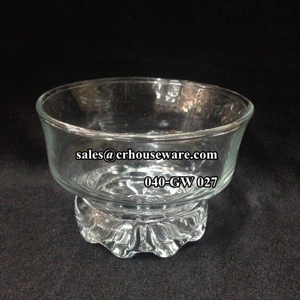 แก้วไอศครีมทรงเตี้ย 040-GW027 Cup ice cream,shape short.