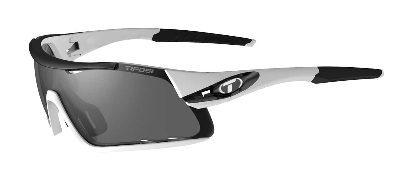 Tifosi DAVOS White/Black (Smoke/AC Red/Clear)
