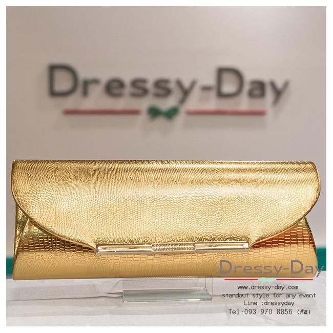กระเป๋าออกงาน TE028: กระเป๋าออกงานพร้อมส่ง สีทอง สวยแบบเรียบหรู ราคาถูกกว่าห้าง ถือออกงาน หรือ สะพายออกงาน สวย หรู ดูดีมากค่ะ
