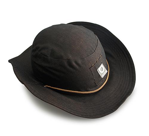 helt-pro Butch Denim Hat with Hardshell - dark brown/light brown
