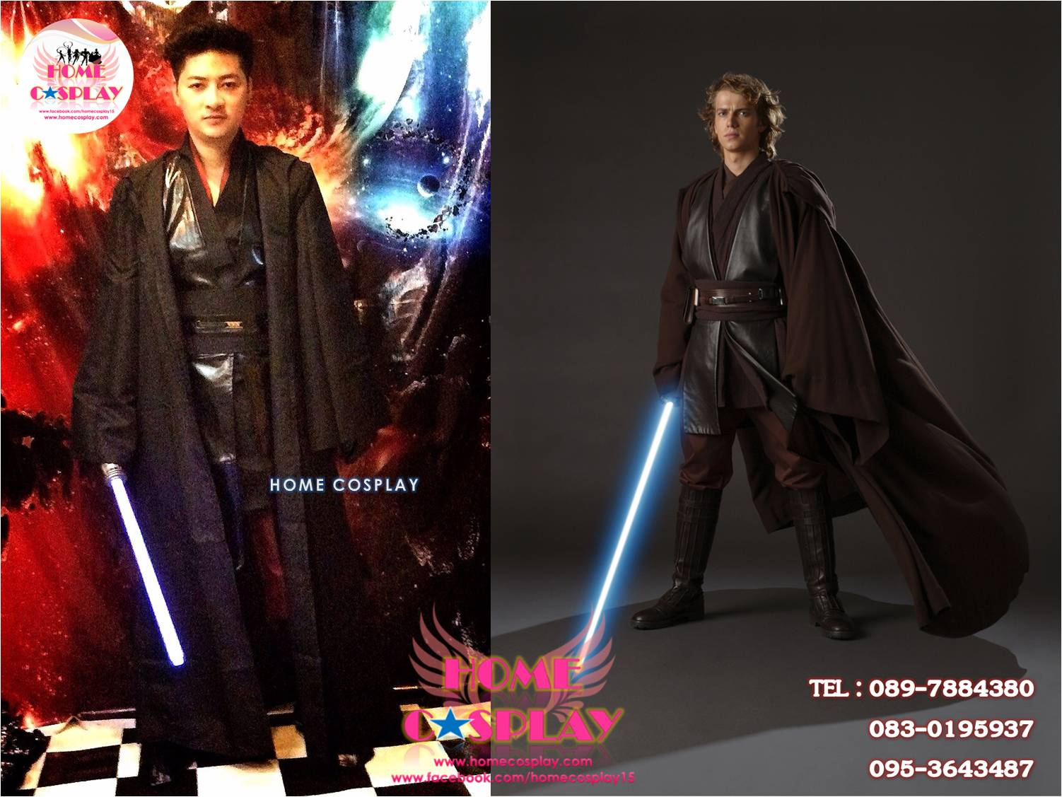 Premium Set: ชุดอัศวินเจได อนาคิน สกายวอล์คเกอร์ Jedi Anakin Skywalker - Star Wars