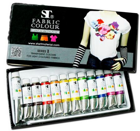 ชุดสีเพนท์ผ้าST 12สี, 5ml