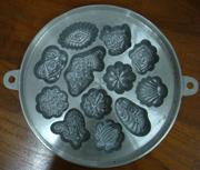 พิมพ์ขนมไข่อะลูมิเนียม ใหญ่ ขนาด 9นิ้ว 016-KK-AL39 Khanom Khai aluminum mold 9 inch. Big size. 016-KK-AL39 อุปกรณ์ทำขนม