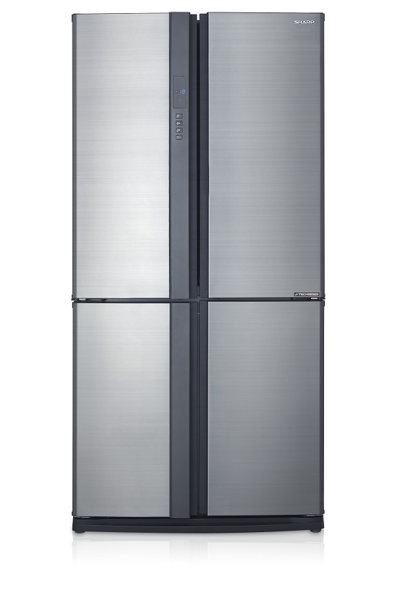 Sharp ตู้เย็น 4 ประตู J-Tech Inverter ความจุ 22.3 คิว รุ่น SJ-FX79T-SL สีเงิน