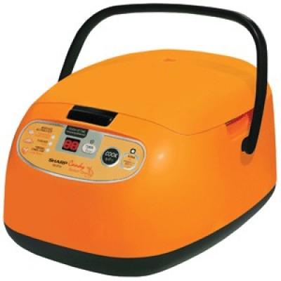 Sharp หม้อหุงข้าว ดิจิตอล 1ลิตร รุ่น KS-ZT10 Candy สีส้ม