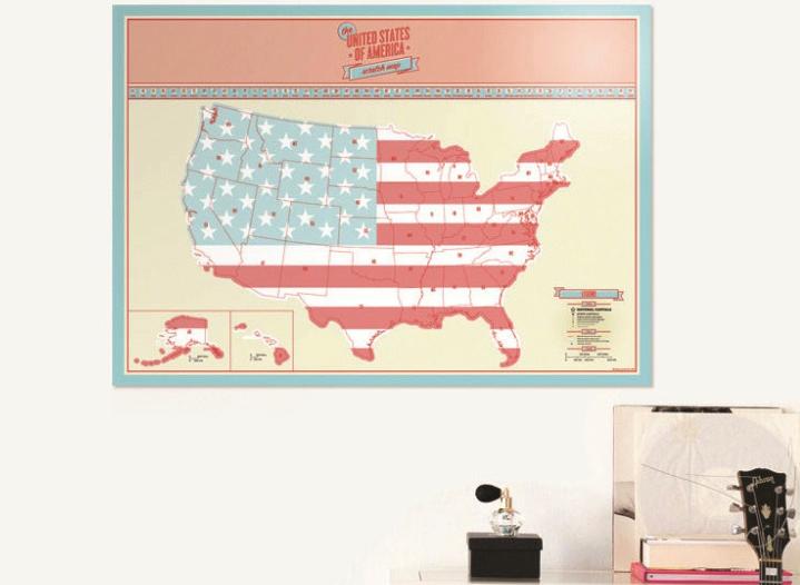 แผนที่อเมริกา Scratch Map