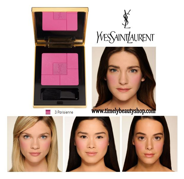 YSL YVES SAINT LAURENT Blush Volupte Heart Of Light Powder Blush #03 Parisienne สีชมพูอมม่วงมีชิมเมอร์ บลัชออนรุ่นใหม่ ที่มีถึง 2 เฉดสีในพาเลตต์เดียวกัน เนื้อละเอียดเพื่อผิวดูเนียน สว่างใส เปล่งปลั่งอย่างเป็นธรรมชาติ