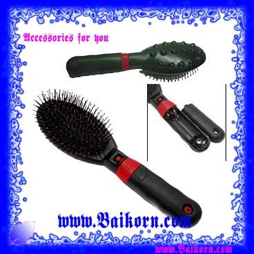 หวีแปรงไฟฟ้า เพื่อช่วยนวดเส้นผมและหนังศีรษะ ( Electronic Hair Brush Comb Massager ) หวีแปรงเพื่อการดูและเส้นผมโดยเฉพา