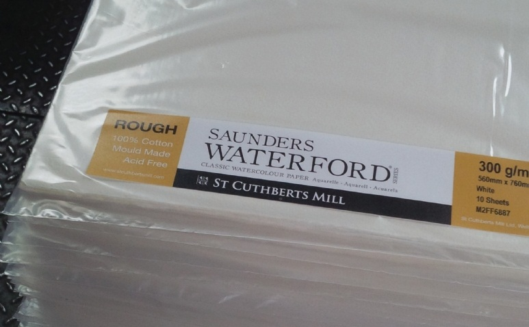 กระดาษสีน้ำWaterford Cotton100% 56x76cm 300g แพ๊ค 10แผ่น (Waterford Watercolour Paper 300g Pack of 10sht)