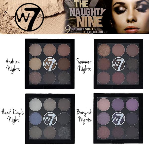 W7 The Naughty Nine Eyeshadow Palette อายชาโดว์พาเล็ตต 9 สีในตลับเดียว มีทั้งเนื้อแมตต์และชิมเมอร์ เม็ดสีสวยคมชัด เกลี่ยง่าย ติดทนนานตลอดวัน ช่วยแต่งแต้มสีสันให้เปลือกตาดูสวยโดดเด่นได้หลากหลายสไตล์ ไม่ว่าจะลุคใสๆ เรียบง่าย หรือลุคจัดเต็มแน่นๆ อย่างปาร์ตี้