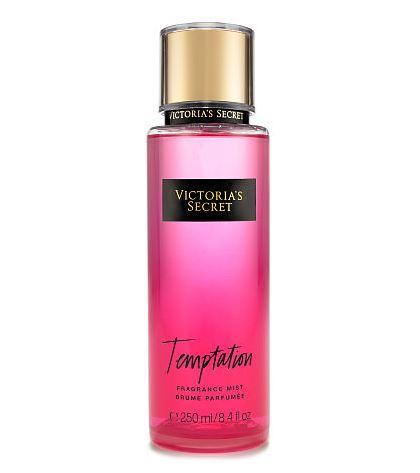Victoria's Secret Fantasies Temptation Fragrance Mist 250 ml. *แพคเกจใหม่ 2016* สเปร์ยน้ำหอม ให้ความหอมรัญจวนใจ กลิ่นติดทนนาน 7-12 ชั่วโมง โทนกลิ่นหอมสดชื่นของแอปเปิ้ลผสมกับกลิ่นดอกไม้หอม