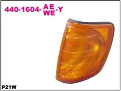 เสื้อไฟหน้า BENZ W126 สีส้ม