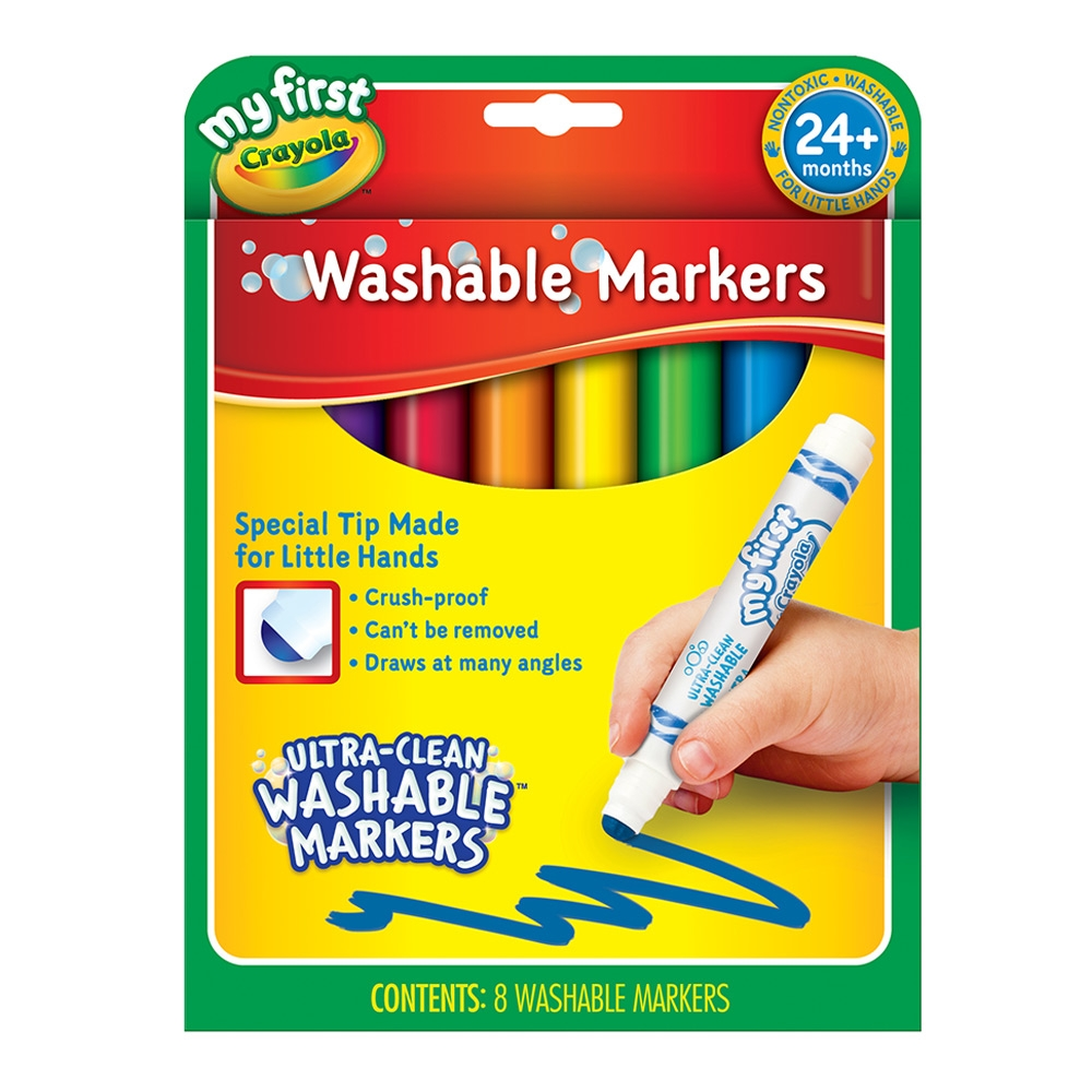 Crayola My First Crayola สีเมจิกล้างออกได้ สำหรับเด็กเล็ก 24 เดือนขึ้นไป