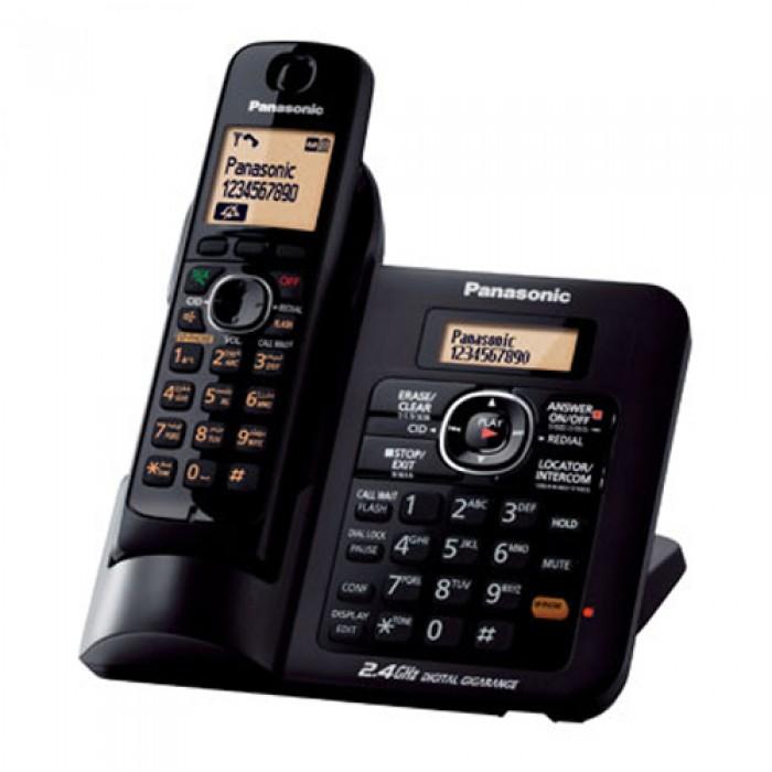 PANASONIC โทรศัพท์ ไร้สาย ใช้ได้แม้ขณะไฟดับ รุ่น KX-TG3821 สีดำ