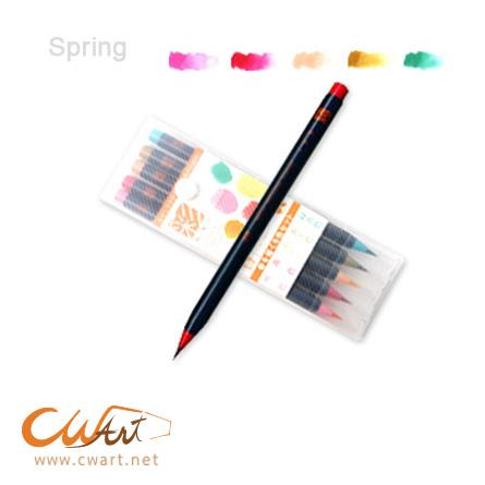 ปากกาพู่กันMANGA SAI ชุดspring x5
