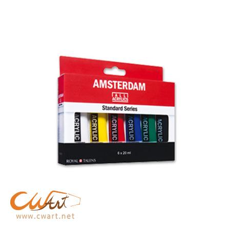 ชุดสีอะคริลิคAmsterdam x6สี, 20ml