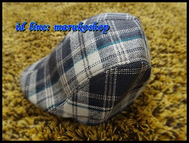 หมวกติงลี่ ลายสก็อตขาวเทาดำ ** รูปถ่่ายจากสินค้าจริงที่ขายค่ะ**