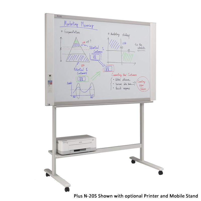 Plus N-20S ELECTRONIC COPYBOARD whiteboard Network and mobile os Color electronic board supports ios and android (no printer)