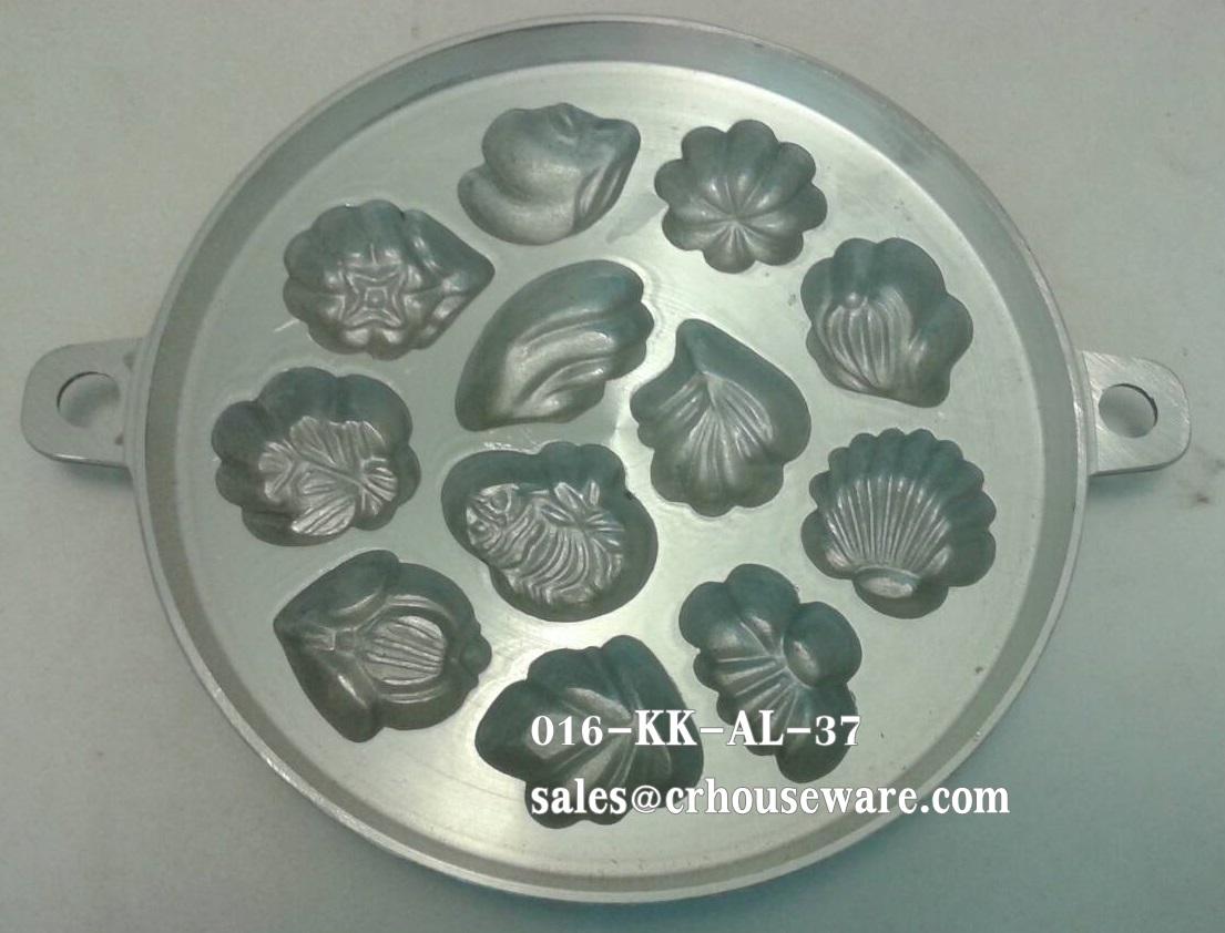 พิมพ์ขนมไข่อะลูมิเนียม เล็ก ขนาด 7 นิ้ว แบบที่ 3 Khanom Khai mold aluminum 7 inch number 3. 016-KK-AL37 อุปกรณ์ทำขนม