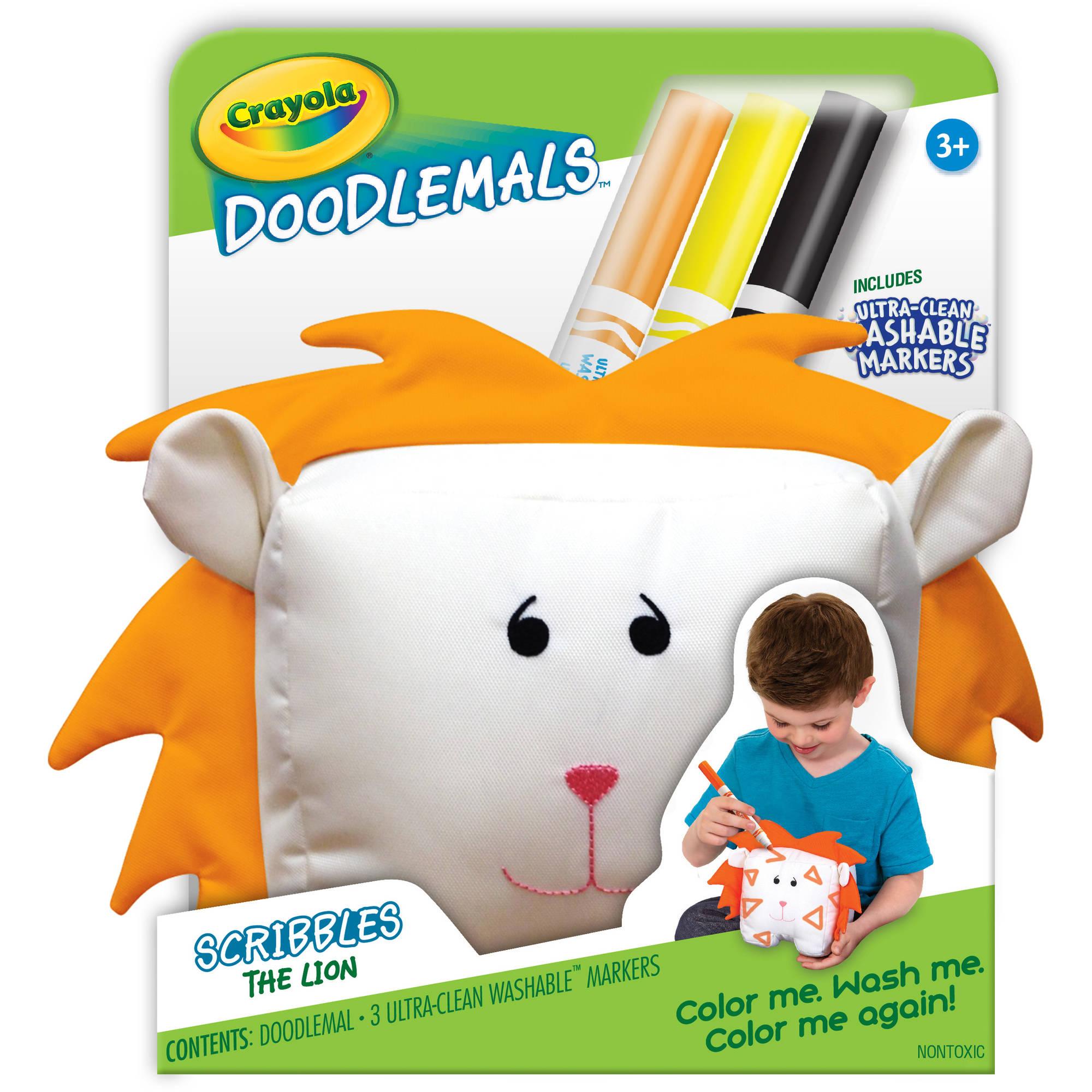 Crayola Doodlemals: The Lion ตุ๊กตาระบายสี รูปสิงโต พร้อมสีเมจิก ล้างออกได้