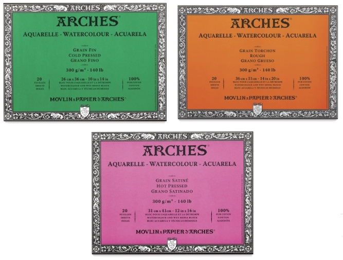 บล๊อคArches Cotton100% 31x41cm 300g 20แผ่น (Arches Watercolour Block 31x41cm 300g 20sht)