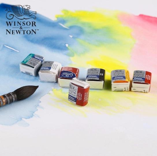 สีน้ำก้อนWinsor Cotman (Winsor Cotman Watercolour 'Half Pan')